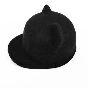 Black Stiff Felt Kitty Hat